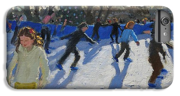 Hyde Park iPhone 7 Plus Case - Ice Skaters At Christmas Fayre In Hyde Park  London by Andrew Macara
