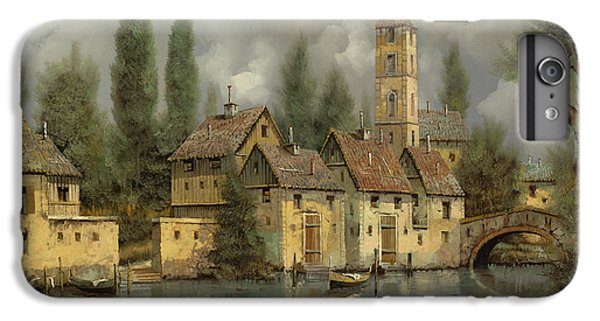 Boats iPhone 7 Plus Case - Il Borgo Sul Fiume by Guido Borelli