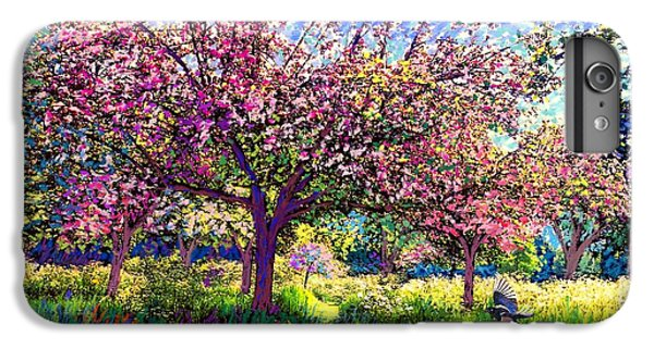 England iPhone 7 Plus Case - In Love With Spring, Blossom Trees by Jane Small