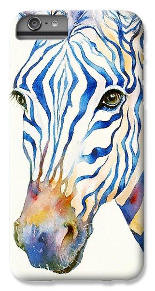 Intense Blue Zebra IPhone 7 Plus Case