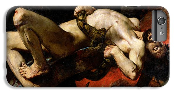 Python iPhone 7 Plus Case - Ixion Thrown Into Hades by Jules Elie Delaunay