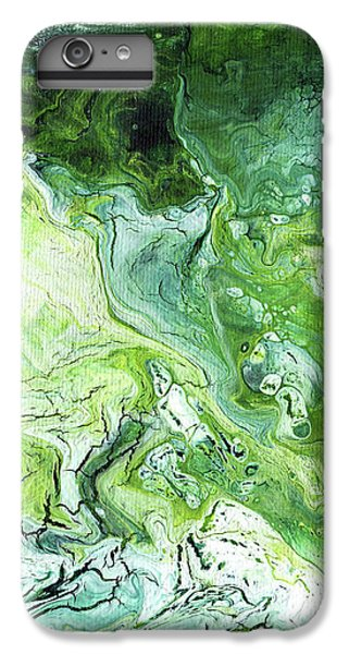 Lime iPhone 7 Plus Case - Jade- Abstract Art By Linda Woods by Linda Woods