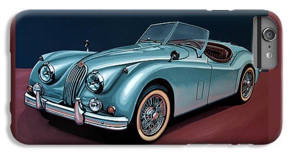 Swallow iPhone 7 Plus Case - Jaguar Xk140 1954 Painting by Paul Meijering