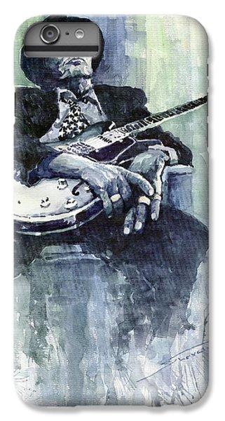 Jazz iPhone 7 Plus Case - Jazz Bluesman John Lee Hooker 04 by Yuriy Shevchuk