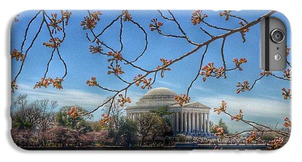 Jefferson Memorial iPhone 7 Plus Case - Jefferson Memorial - Cherry Blossoms by Marianna Mills
