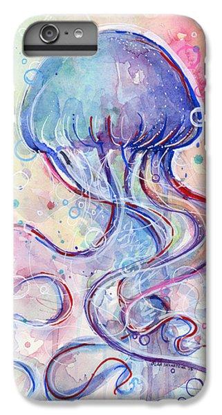 Marine iPhone 7 Plus Case - Jelly Fish Watercolor by Olga Shvartsur