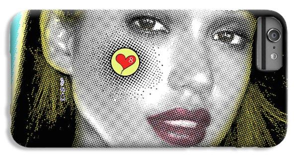 Jessica Alba Pop Art, Portrait, Contemporary Art On Canvas, Famous Celebrities IPhone 7 Plus Case by Dr Eight Love