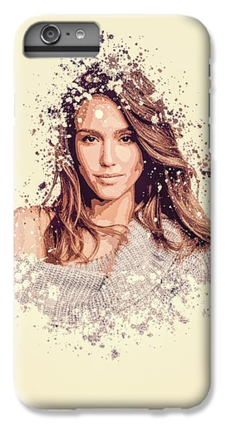 Jessica Alba iPhone 7 Plus Case - Jessica Alba Splatter Painting by MP Art