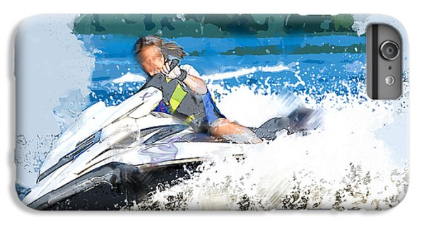 Jet Ski iPhone 7 Plus Case - Jet Skiing In The Lake by Elaine Plesser