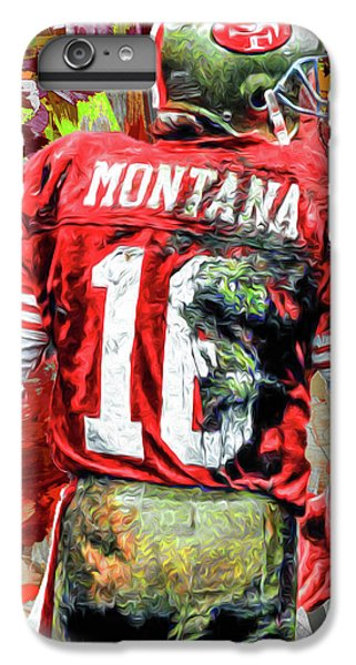 Joe Montana Football Digital Fantasy Painting San Francisco 49ers IPhone 7 Plus Case by David Haskett