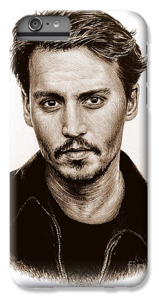 Johnny Depp iPhone 7 Plus Case - Johnny Depp Sepia by Andrew Read