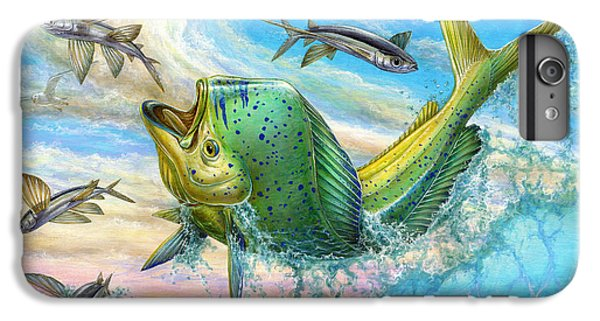 Dolphin iPhone 7 Plus Case - Jumping Mahi Mahi And Flyingfish by Terry Fox