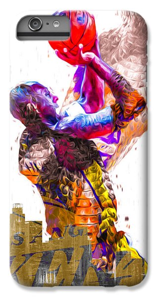 Kobe Bryant Los Angeles Lakers Digital Painting Snake 1 IPhone 7 Plus Case by David Haskett