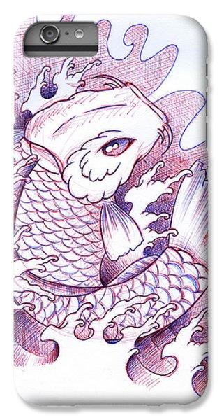 Koi iPhone 7 Plus Case - Koi Carp Tattoo Art by Samuel Whitton