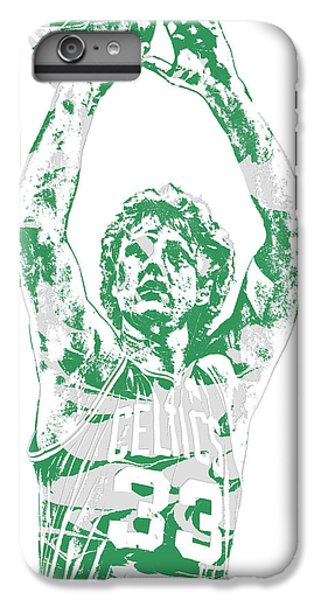 Larry Bird iPhone 7 Plus Case - Larry Bird Boston Celtics Pixel Art 5 by Joe Hamilton