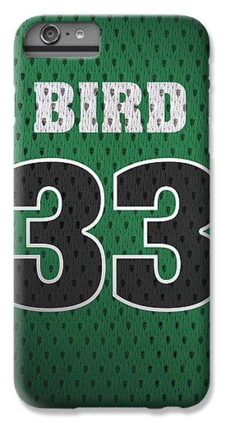 Larry Bird iPhone 7 Plus Case - Larry Bird Boston Celtics Retro Vintage Jersey Closeup Graphic Design by Design Turnpike