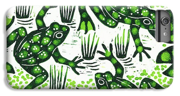 Leaping Frogs IPhone 7 Plus Case by Nat Morley
