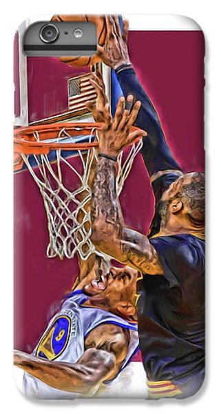 Athletes iPhone 7 Plus Case - Lebron James Cleveland Cavaliers Oil Art by Joe Hamilton