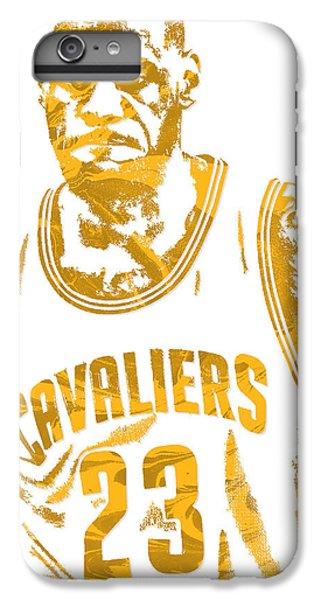 Lebron James iPhone 7 Plus Case - Lebron James Cleveland Cavaliers Pixel Art 10 by Joe Hamilton