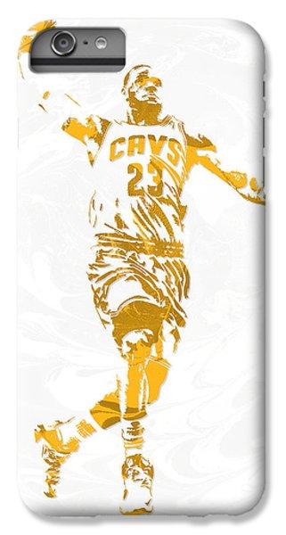 Lebron James iPhone 7 Plus Case - Lebron James Cleveland Cavaliers Pixel Art 12 by Joe Hamilton
