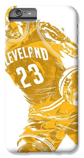 Lebron James iPhone 7 Plus Case - Lebron James Cleveland Cavaliers Pixel Art 20 by Joe Hamilton