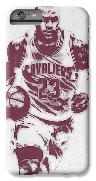 Lebron James Cleveland Cavaliers Pixel Art 4 IPhone 7 Plus Case by Joe Hamilton