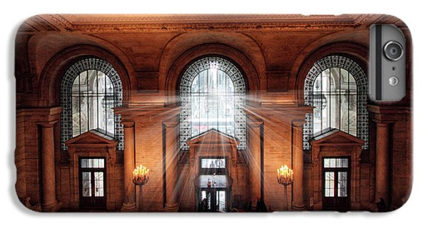IPhone 7 Plus Case featuring the photograph Library Entrance by Jessica Jenney