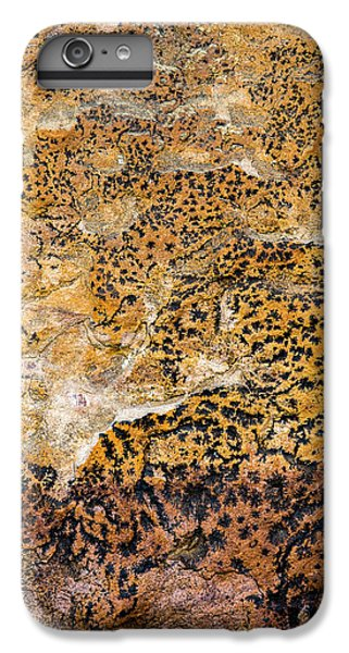 IPhone 7 Plus Case featuring the photograph Lichen Abstract, Bhimbetka, 2016 by Hitendra SINKAR
