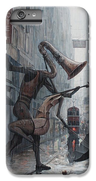 Saxophone iPhone 7 Plus Case - Life Is  Dance In The Rain by Adrian Borda