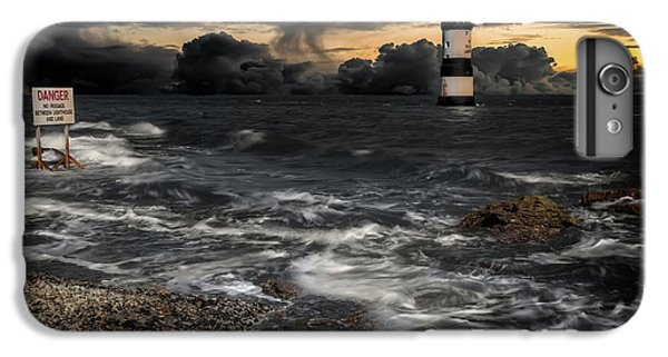Puffin iPhone 7 Plus Case - Lighthouse Storm by Adrian Evans