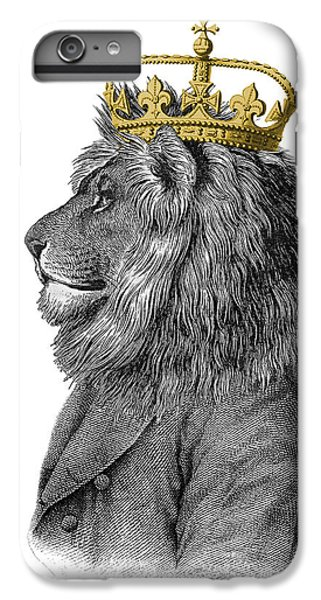 England iPhone 7 Plus Case - Lion The King Of The Jungle by Madame Memento