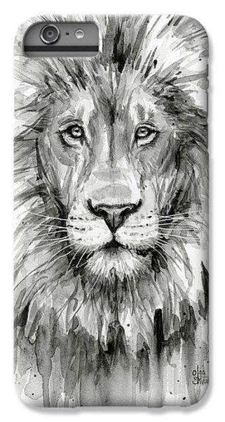 Lion Watercolor  IPhone 7 Plus Case by Olga Shvartsur
