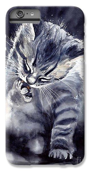 Fairy iPhone 7 Plus Case - Little Grey Cat by Suzann's Art