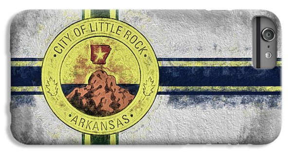 IPhone 7 Plus Case featuring the digital art Little Rock City Flag by JC Findley