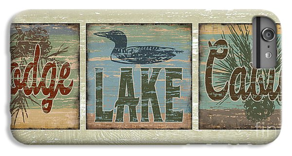 Lodge Lake Cabin Sign IPhone 7 Plus Case by Joe Low