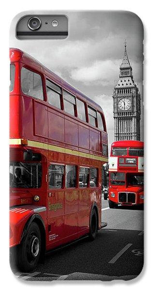 Big Ben iPhone 7 Plus Case - London Red Buses On Westminster Bridge by Melanie Viola