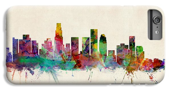 Los Angeles California Skyline Signed IPhone 7 Plus Case by Michael Tompsett