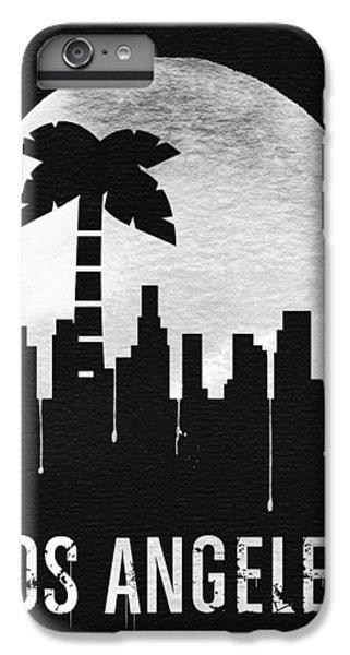 Moon iPhone 7 Plus Case - Los Angeles Landmark Black by Naxart Studio