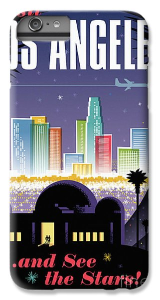 Los Angeles Retro Travel Poster IPhone 7 Plus Case by Jim Zahniser