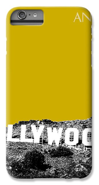 Los Angeles Skyline Hollywood - Gold IPhone 7 Plus Case by DB Artist
