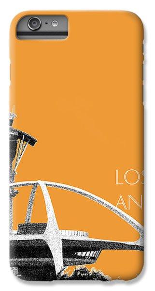 Los Angeles Skyline Lax Spider - Orange IPhone 7 Plus Case by DB Artist