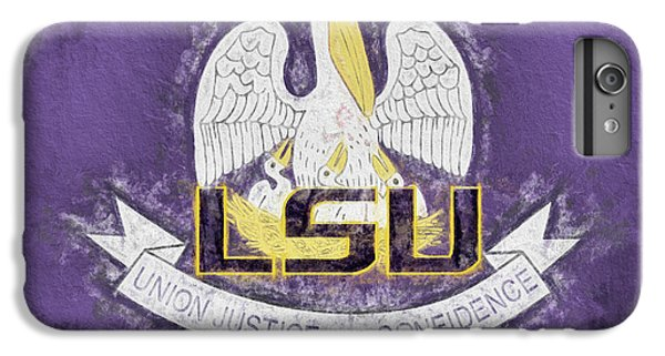 IPhone 7 Plus Case featuring the digital art Louisiana Lsu State Flag by JC Findley