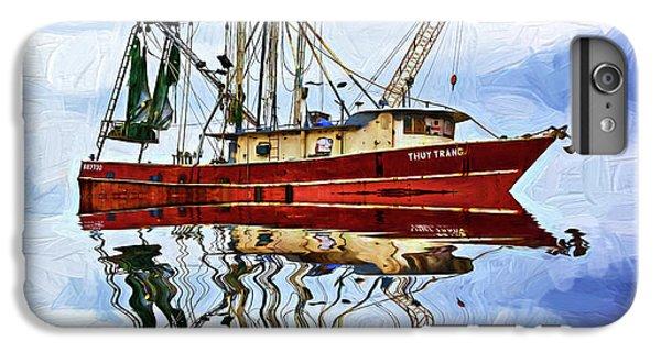 Shrimp Boats iPhone 7 Plus Case - Louisiana Shrimp Boat 4 - Impasto by Steve Harrington