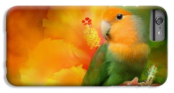 Parrot iPhone 7 Plus Case - Love Among The Hibiscus by Carol Cavalaris