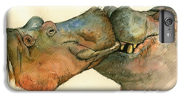Love Between Hippos IPhone 7 Plus Case by Juan  Bosco