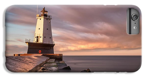 IPhone 7 Plus Case featuring the photograph Ludington Light Sunrise Long Exposure by Adam Romanowicz