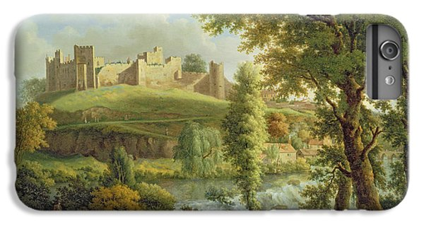 Castle iPhone 7 Plus Case - Ludlow Castle With Dinham Weir by Samuel Scott