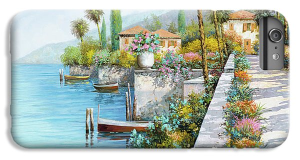 Boats iPhone 7 Plus Case - Lungolago by Guido Borelli