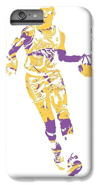 Magic Johnson iPhone 7 Plus Case - Magic Johnson Los Angeles Lakers Pixel Art 10 by Joe Hamilton