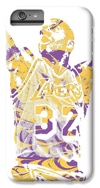 Magic Johnson iPhone 7 Plus Case - Magic Johnson Los Angeles Lakers Pixel Art 7 by Joe Hamilton